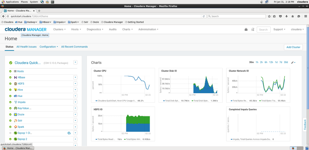 All services in Cloudera Manager