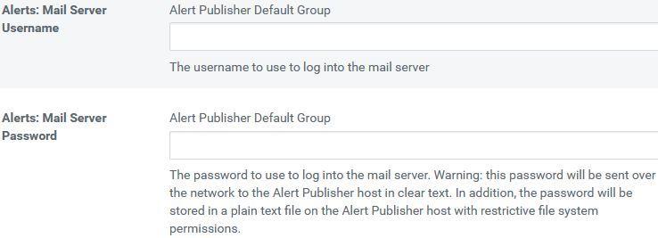 Mail Server UN & PWD