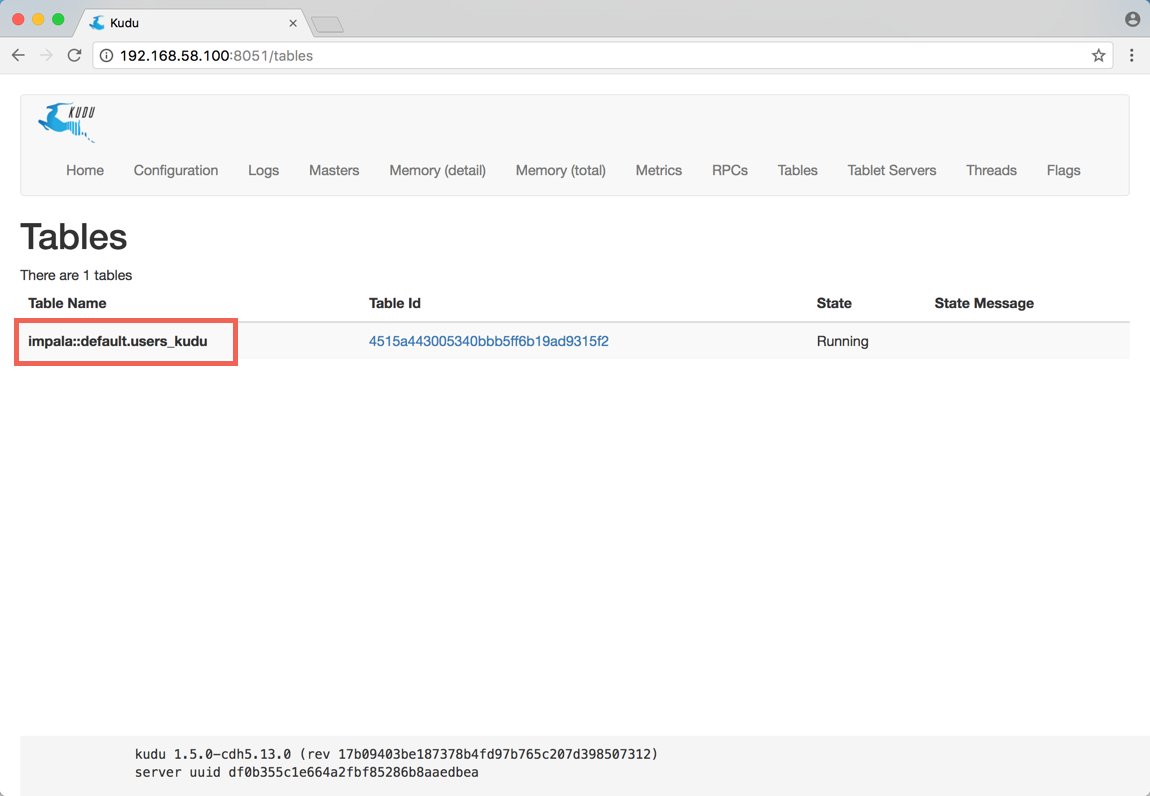 Using the PutKudu processor to ingest MySQL data i