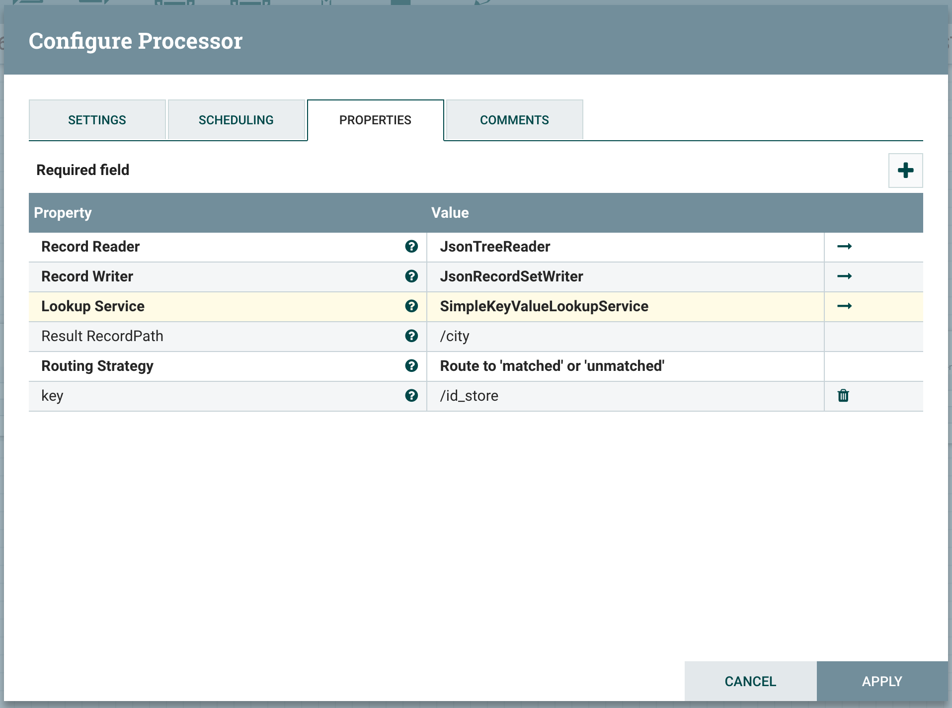 Data flow enrichment with NiFi part 1 : LookupReco