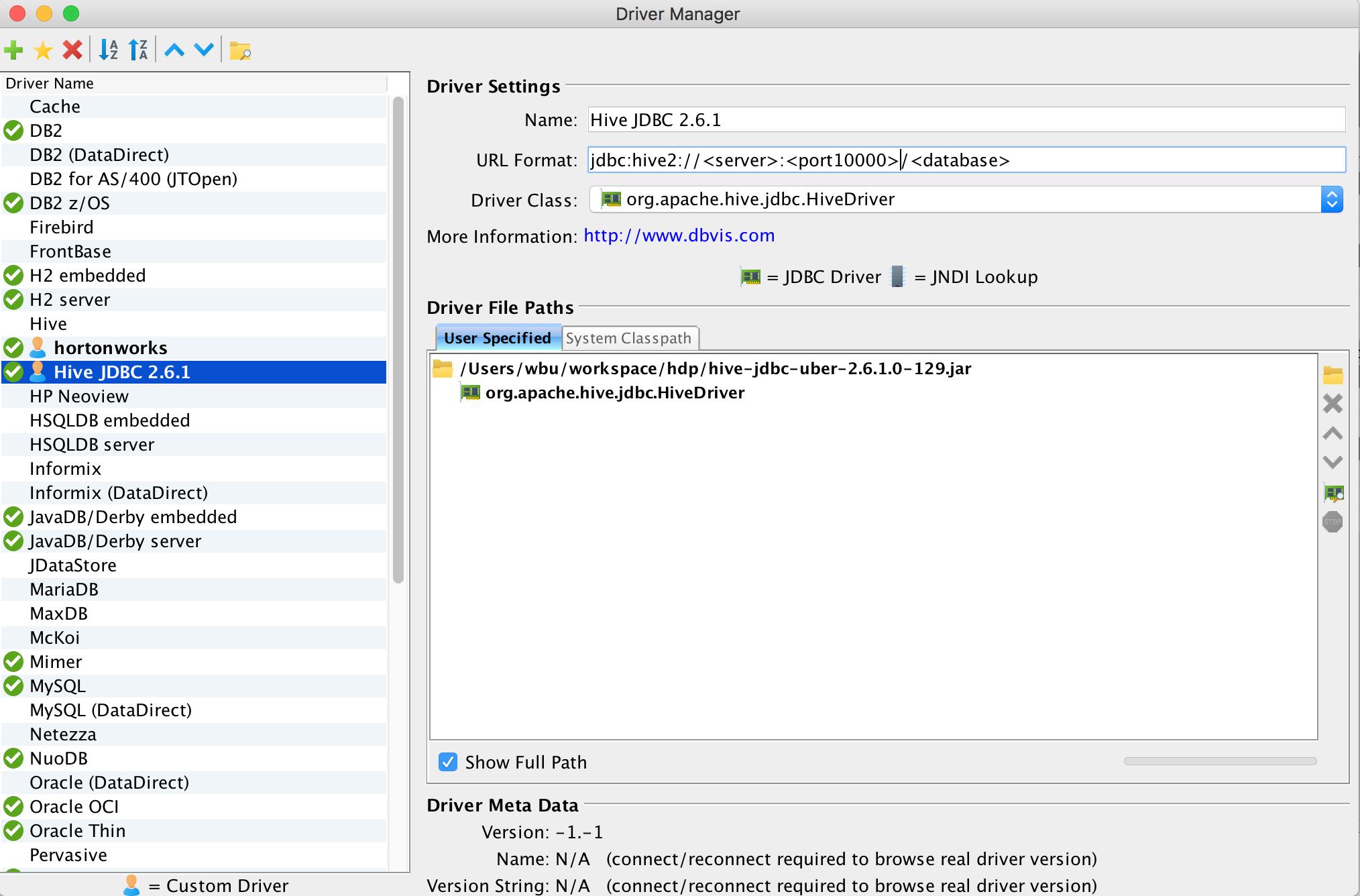 Setup DbVisualizer access HDP Hive via Knox - Cloudera Community