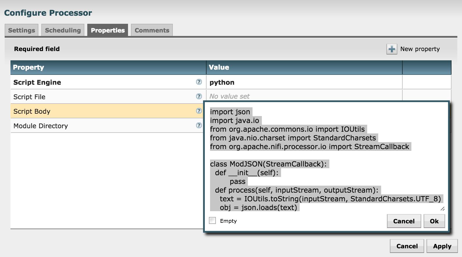 Python Script in NiFi - Cloudera Community