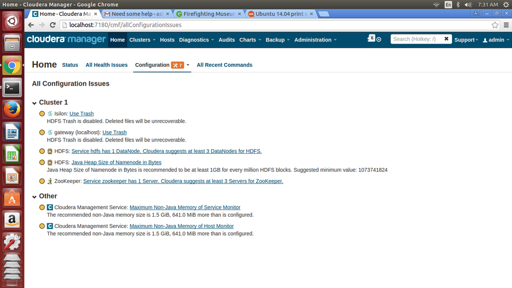 Installation complete for Cloudera Manager but not