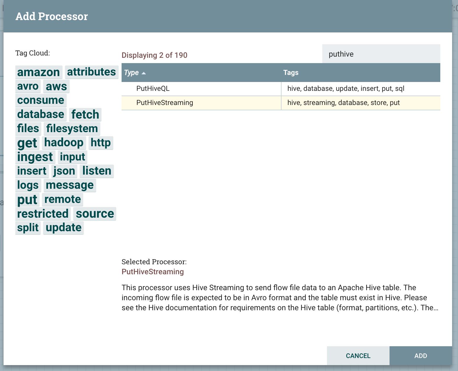 RDBMS to Hive using NiFi (small-medium tables) - Cloudera