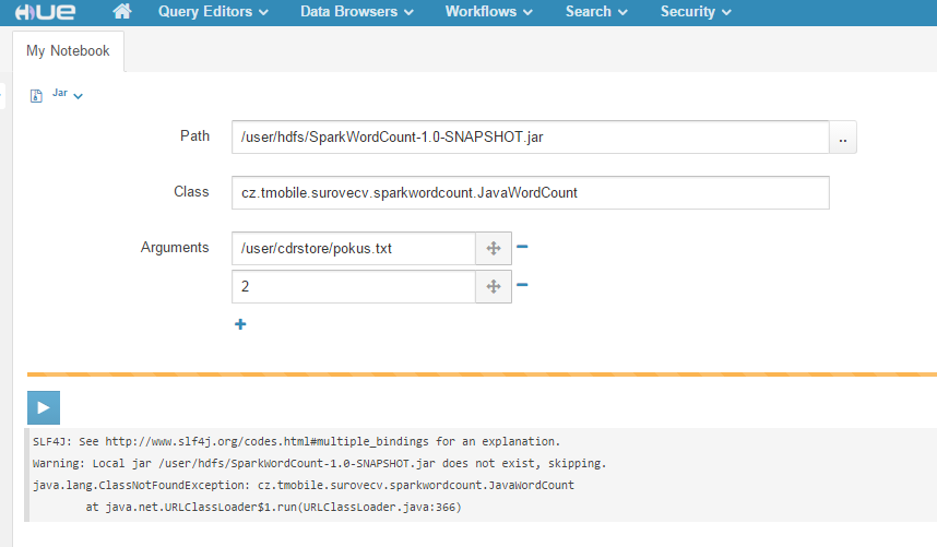 Solved: HUE Spark notebook ClassNotFoundException - Cloudera