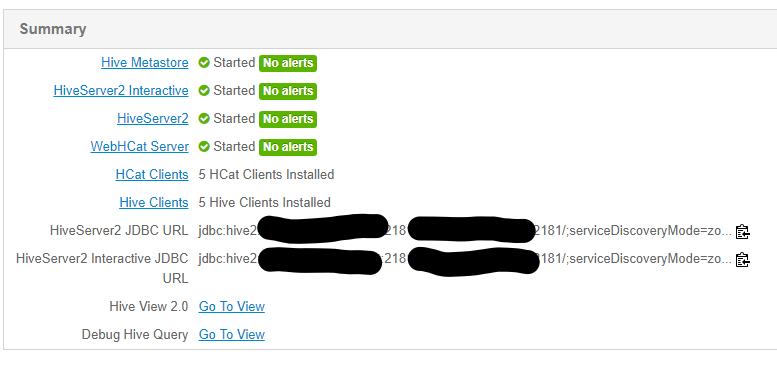 Difficulties connecting to Hiveserver2 JDBC URLs v