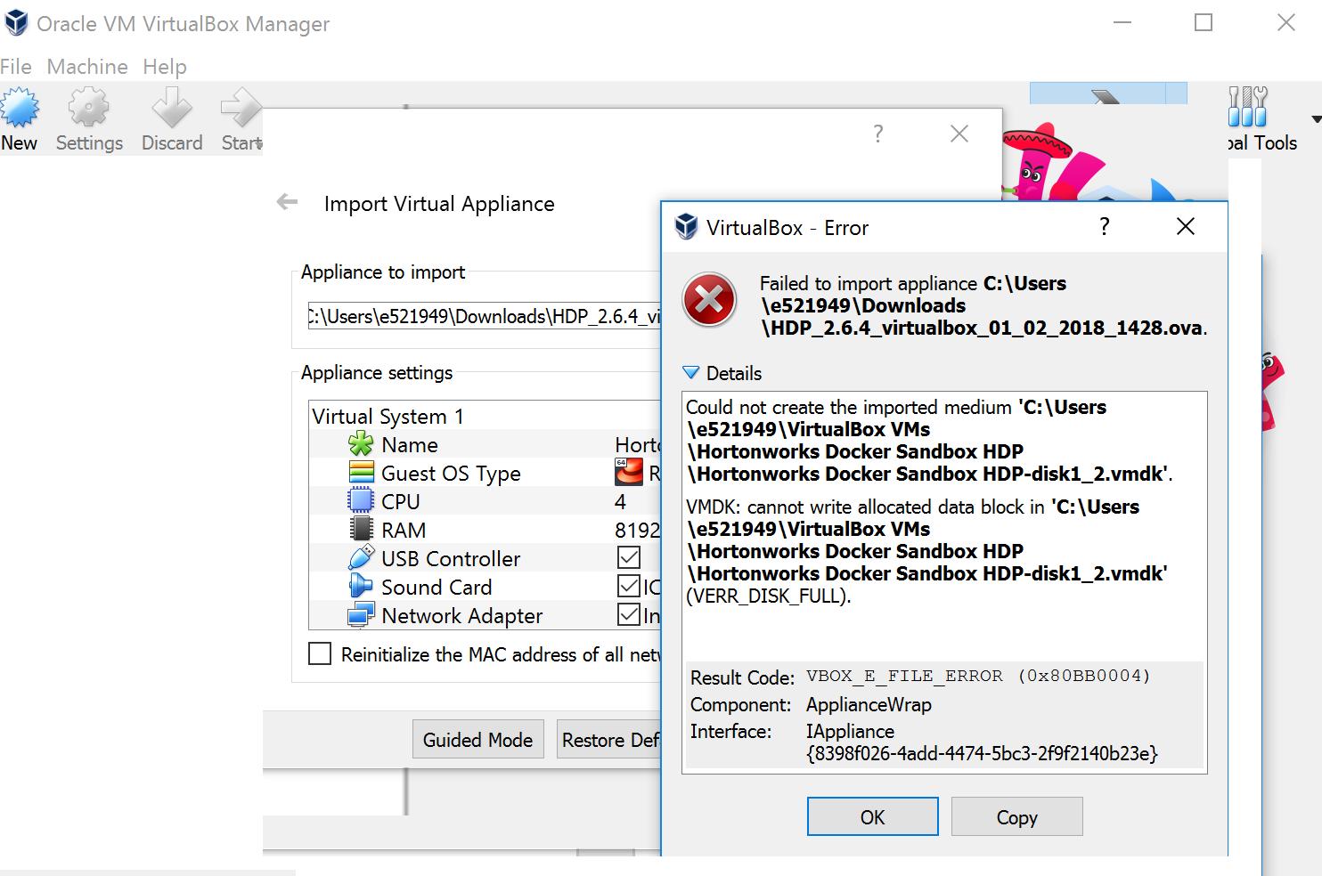 Virtual Box - Error - Cloudera Community