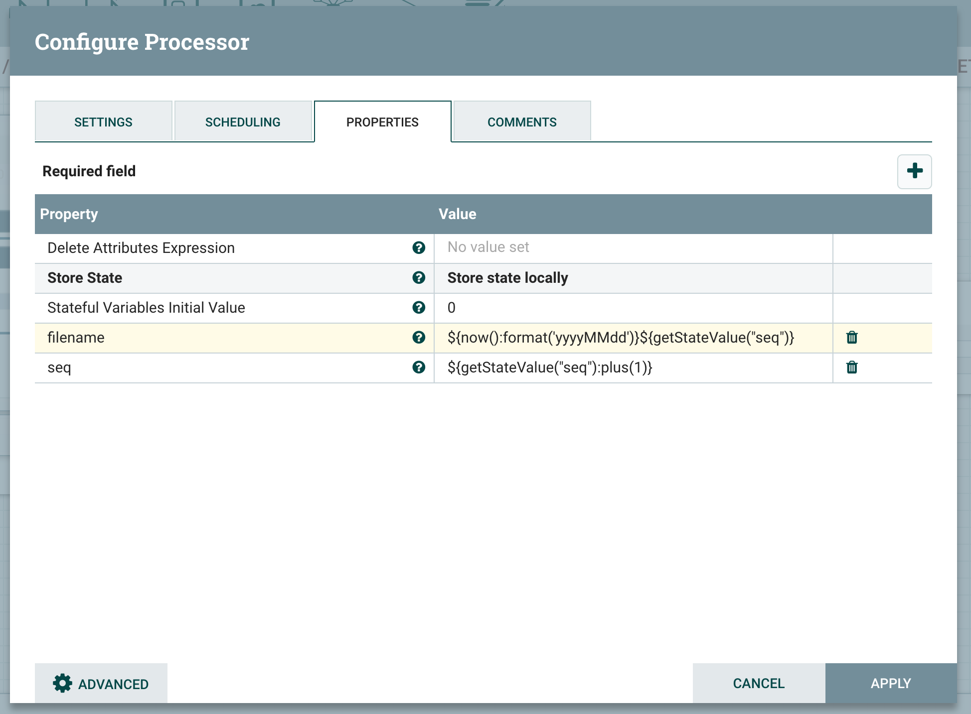 Generate Sequence number in Apache NIFI - Cloudera Community