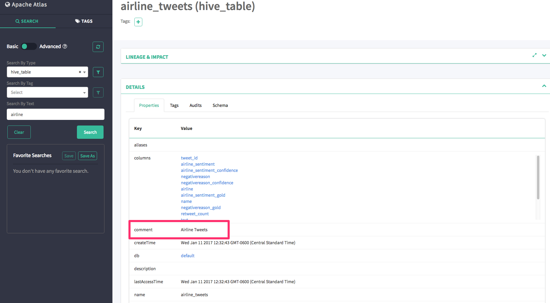 Solved: How to query table/column comments in HIVE Metasto