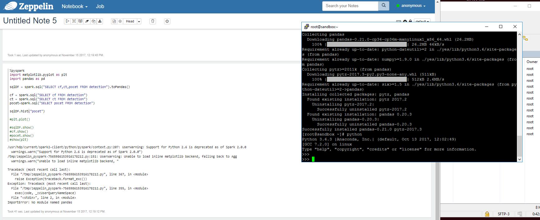 No module named pandas - Cloudera Community