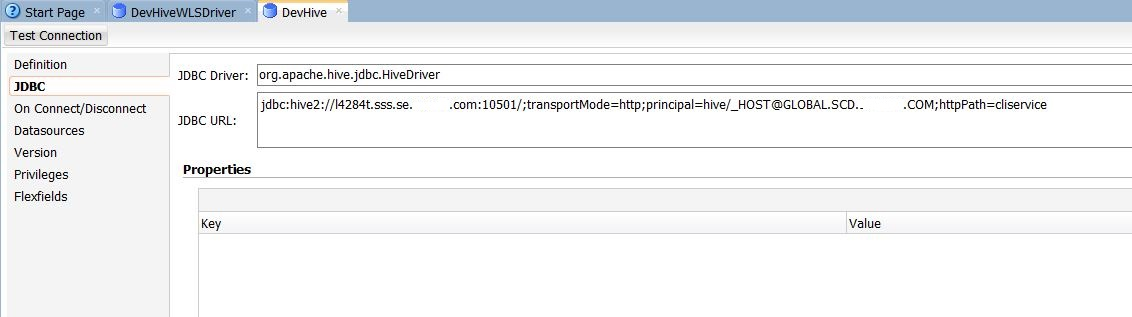 JDBC from Oracle Data Integrator to Kerberized HDP