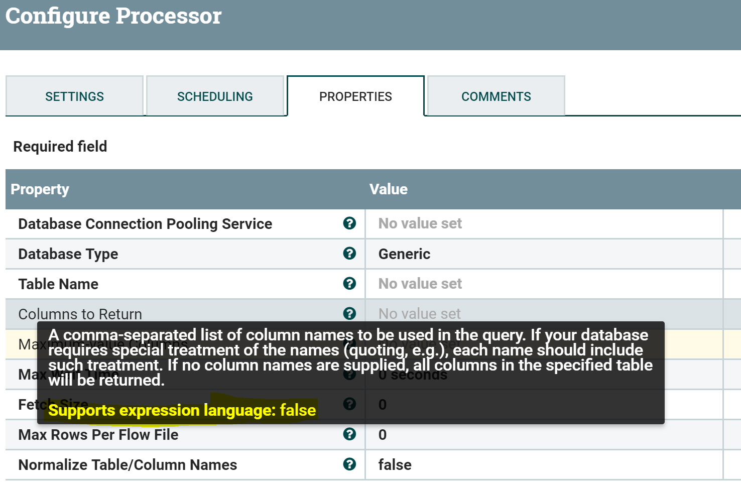 Solved: Nifi : QueryDatabaseProcessor - Add new fields to