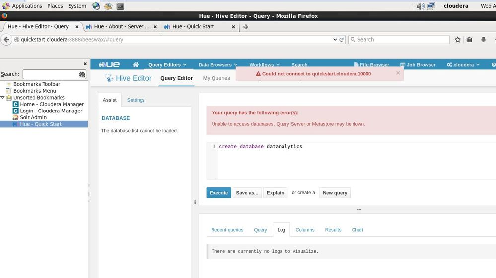error while giving query.JPG