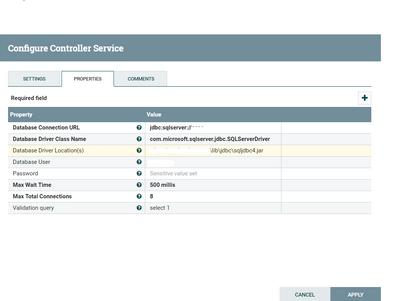 Custom processor + DBCPConnectionPool for SQL Serv