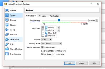 Solved: Limit memory for Hadoop sandbox in VirtualBox
