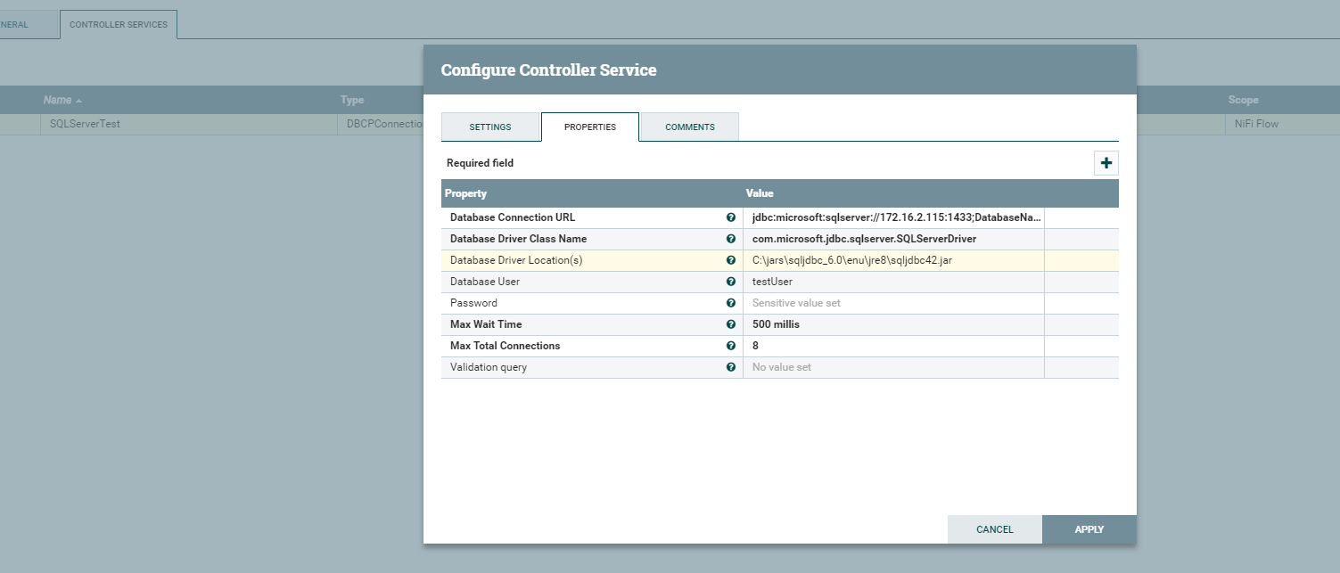 Solved: Nifi Connection to MSSQL server DB - Cloudera Community