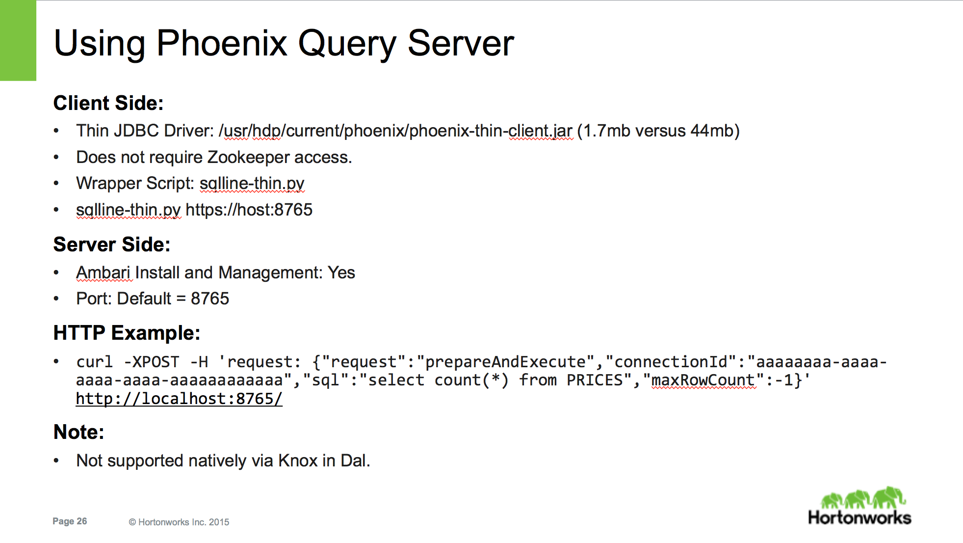 Solved: Phoenix Query Server - Documentation - Cloudera