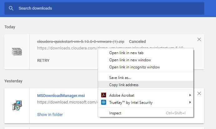 cloudera quickstartvm download.JPG