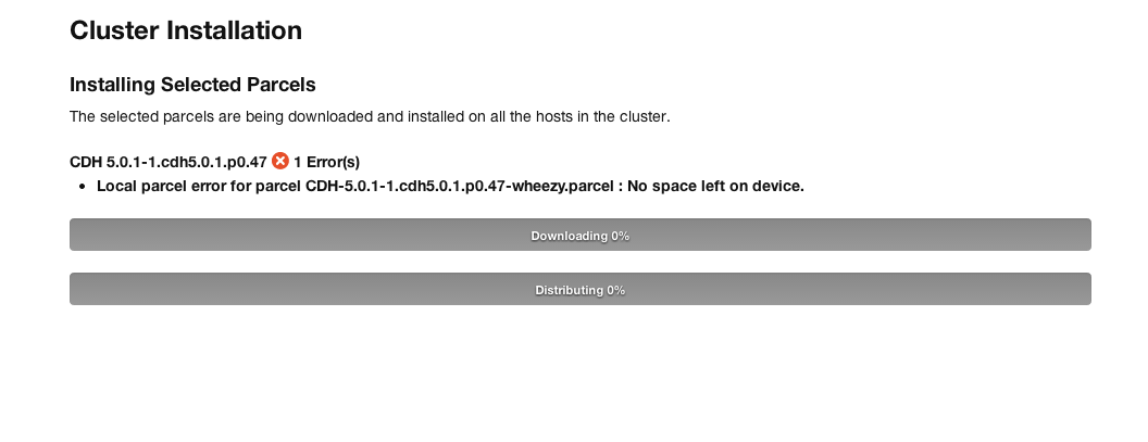 Cloudera Error