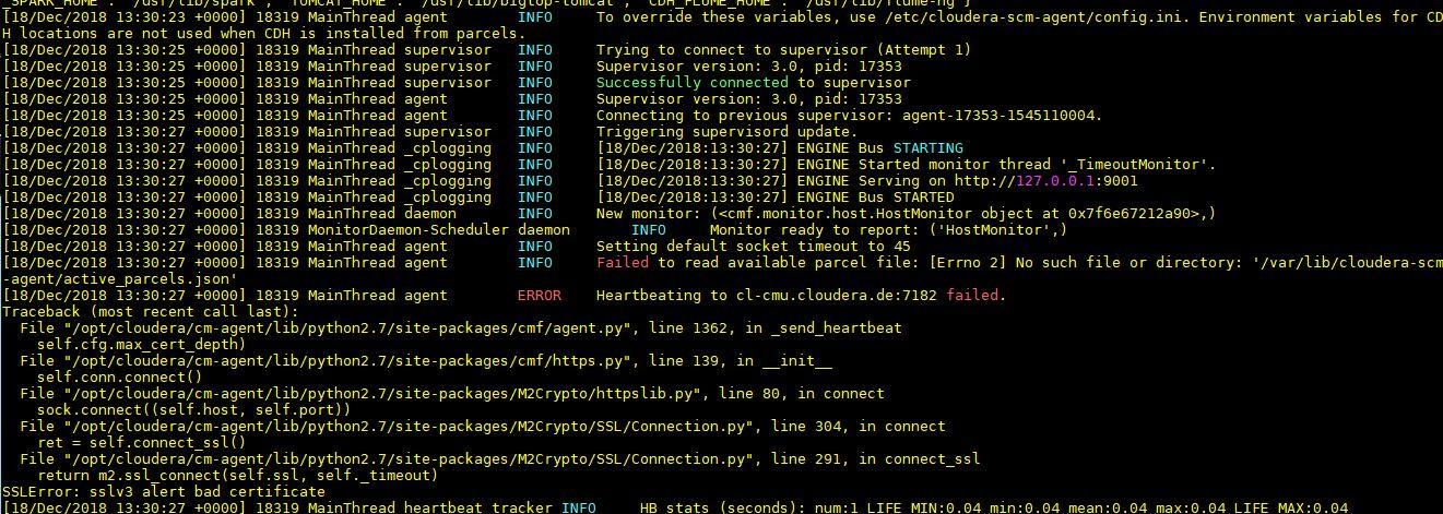 Auto TLS  Cloudera agent unable to send heartbeat - Cloudera Community