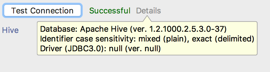 Connecting DbVisualizer and DataGrip to Hive with