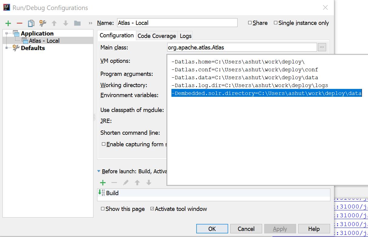 Atlas Development Environment Setup using IntelliJ